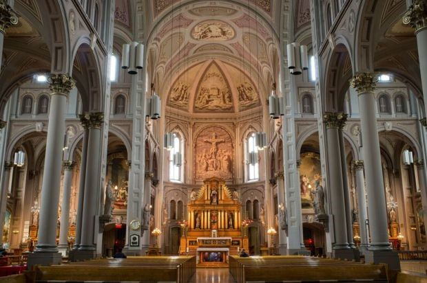 Interior of the Church of the Gesù, a Baroque-styled building that first opened in 1865.. Photo credit: Church of the Gesù.
